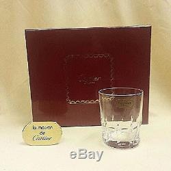 CARTIER CRYSTAL La Maison Des Bijoux SET/4 Double Old Fashioned NEW IN BOX