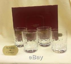 CARTIER CRYSTAL La Maison Des Bijoux SET/4 Double Old Fashioned NEW IN BOX