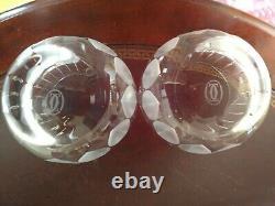 CARTIER Des Must De Cartier Double Old Fashioned 2 glasses No Original Boxes