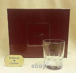 CARTIER La Maison Des Bijoux Crystal Double Old Fashioned Set of 4