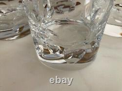 Christofle Cluny Crystal Set of Four Double Old Fashioned Glasses