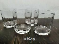 Dansk Facette Round Double Old Fashioned Glasses Set of 4, 3 1/2 Tall