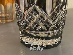 Dazzling Waterford Lismore Diamond Collection Black Double Old Fashioned Tumbler