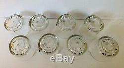 Double Old-Fashioned Glasses with Pewter Heraldic Crest, Set Of Eight