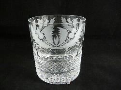 EDINBURGH Scotland Crystal THISTLE 3-5/8 Double Old Fashioned Rocks Glass