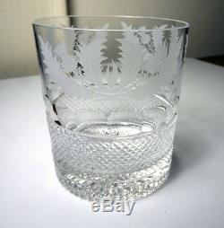 Edinburgh Crystal THISTLE Double Old Fashioned Glass(s)