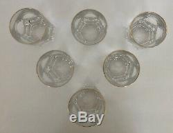 Edward Gold By Ralph Lauren Crystal 6 each Double Old Fashioned Glass Mint Cond