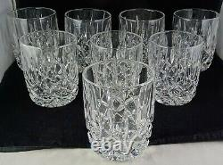 Eight Gorham Crystal Lady Anne Glass Barware Double Old Fashioned Tumblers