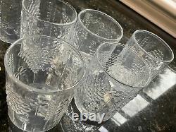 FLORA 6 Pcs. Clear Double Old Fashioned Glass Tumbler Oiva Toikka LITTALA Arabia