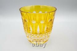 Faberge Crystal Xenia Double Old Fashioned Tumblers Set of 4 FREE USA SHIPPING