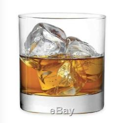 For Daily Ware Double Old Fashioned Whiskey Glass Set of 4 -11oz Whiskey Glasses
