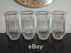 Galway Crystal Old Galway Star Cut 4 Double Old Fashioned Tumblers Glasses