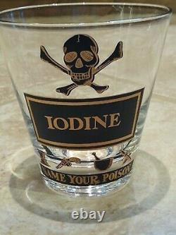 Georges Briard Name Your Poison Glasses SET OF 3 Double Old Fashioned