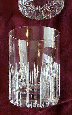 Great Set Of 3 Baccarat Crystal Rotary 4 1/8 Double Old Fashioned Tumblers