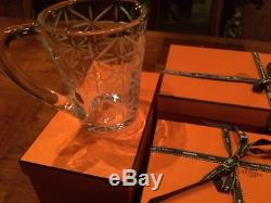 HERMES Crystal Water Jug And 4 Double Old Fashioned Tumblers