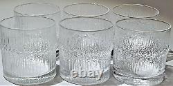 Iittala Set of 6 Niva Double Old Fashioned Glasses Tapio Wirkkala MCM Finland