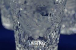 Intaglio Cut Flower & Diamond Cut Band Crystal (12) Double Old Fashioned, 4 1/4