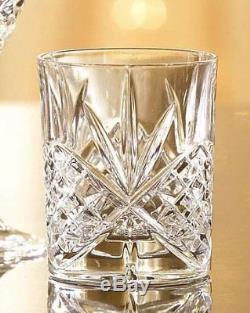 James Scott Double Old Fashioned Crystal Drinking Glasses Set, Irish Cut Design