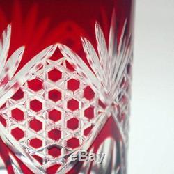 Japanese Crafts Sakura Double Old Fashioned Glass 9.4Oz Edo Kiriko Design Cut Gl