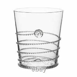 Juliska Amalia Glass Double Old Fashioned Set of 4