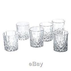 Klikel Ingrid Crystal Whiskey Double Old Fashioned Glasses Set of 6 6 DOFs