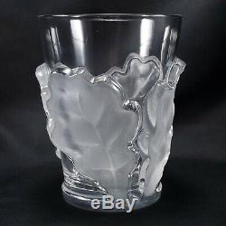 Lalique Chene Double Old Fashioned Glasses Set of 2 Whiskey 4-3/4 Oak Leaf