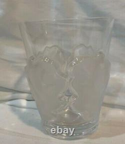 Lalique Chene Double Old Fashioned Oak Leaf Whiskey Glass 4-1/2 x 3-3/4