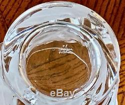Lalique Chene Double Old Fashioned Tumbler Excellent Condition Signed Authentic