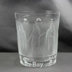 Lalique Crystal Femmes Antiques Double Old Fashioned Tumbler Sold Individually