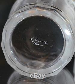 Lalique France Crystal Les Femmes DOF Double Old Fashioned Flat Tumbler