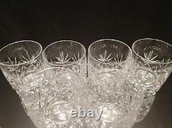 Lenox Charleston Pattern Double Old Fashioned Whiskey Crystal Glasses Set of 6