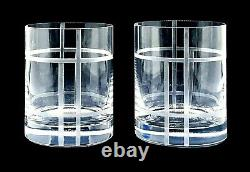 Lenox MADISON SQUARE Kate Spade Crystal - 2 Double Old Fashioned Glasses