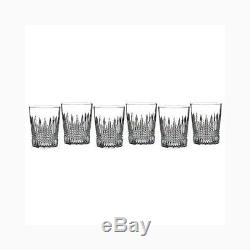 Lismore Diamond Double Old Fashioned Glass Set of 6 Old Fashioned Glasses, New