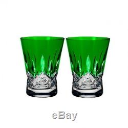 Lismore Pops Emerald Double Old Fashioned DOF Pair #40019538 Brand New