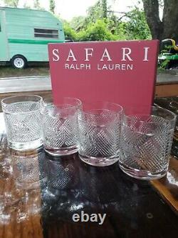 Lot of 4 New in Box RALPH LAUREN Safari Double Old Fashioned Rocks Whiskey Glass