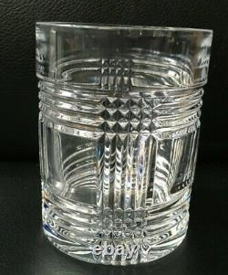 Lot of 4 RALPH LAUREN GLEN PLAID CRYSTAL DOUBLE OLD FASHIONED 4 1/8 GLASSES