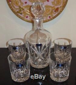 Marquis By Waterford Brookside Decanter And 4 Double Old Fashioned Glasses