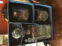 Marquis By Waterford Decanter And Set Of Two Double Old Fashioned Glasses