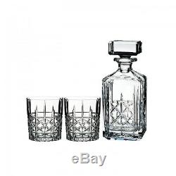 Marquis by Waterford Brady Double Old Fashioned, Pair with Decanter