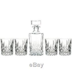 Marquis by Waterford Decanter Set with 4 Double Old Fashioned Glasses Box Torn