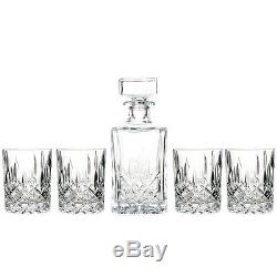 Marquis by Waterford Decanter and Set of Four Double Old Fashioned Glasses New