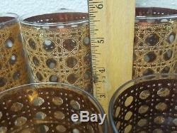Mid Century Culver Cannella Set Of 16 Hi-ball & Double Old fashioned