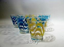 Midcentury Russel Wright  Bartlett Collins 6 Double Old Fashioned Tumblers