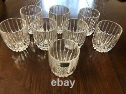 Mikasa Crystal Park Lane Double Old Fashioned Never been used Set of 8
