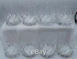 Mikasa Olympus Double Old Fashioned crystal glasses lot of 8. Excellent Cond