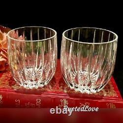Mikasa Park Lane Double Old Fashioned Executive Vintage Crystal Barware Set 2