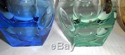 Moser Bar Double High Ball Ice Bottom Old Fashioned 4 Glasses Set of 6