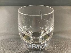 Moser Crystal Bar Ice Bottom Double Old-Fashioned Rocks Glass never Used 3.75