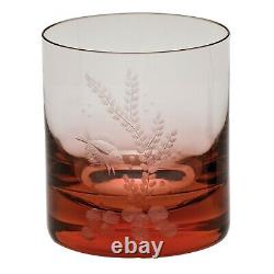 Moser Czech Bohemian Moser Glass Ocean Life Double Old Fashioned Set New