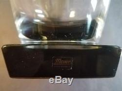 Moser Lancelot 4.3 Double Old Fashioned Smoke Base Crystal Set of 2 withBox